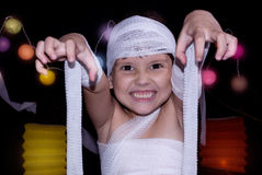 Child dressed as mummy Royalty Free Stock Photo