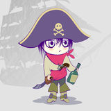 Child dressed as a pirate, pirate motif, pirate attributes Royalty Free Stock Photos