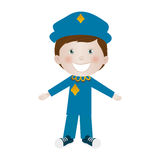 Child dressed as police officer icon image Royalty Free Stock Photography