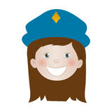 Child dressed as police officer icon image Stock Photos