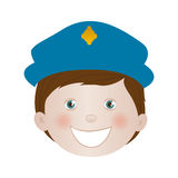 Child dressed as police officer icon image Stock Image