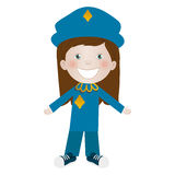 Child dressed as police officer icon image Stock Images
