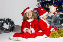 Child dressed as Santa Claus. Stock Photography