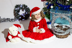 Child dressed as Santa Claus. Stock Image