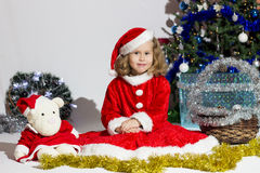 Child dressed as Santa Claus. Royalty Free Stock Images
