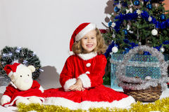 Child dressed as Santa Claus. Royalty Free Stock Photos