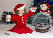 Child dressed as Santa Claus. Royalty Free Stock Photography
