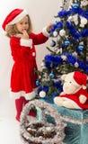 Child dressed as Santa Claus. Royalty Free Stock Photo