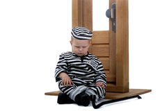 Child dressed as thief Royalty Free Stock Photos