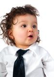 Child dressed in a business Royalty Free Stock Photography