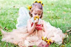 Child Dressed in Fairy Costume Royalty Free Stock Photography