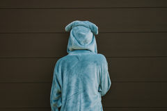 Child dressed up with their backs. To the camera Royalty Free Stock Images