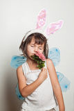 Child dresses up in costume fairy Stock Photography