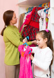 Child in the dressing room Stock Image