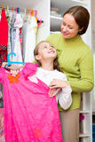 Child in the dressing room Royalty Free Stock Photography