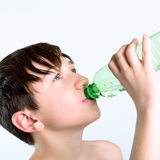 Child drink water royalty free stock photo