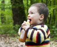 Child drinking Stock Photo