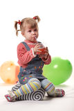 Child drinking juice  Stock Images