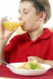 Child Drinking Juice Stock Images