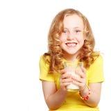 Child drinking milk stock photo