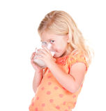 Child drinking milk Stock Photo