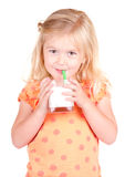 Child drinking milk Stock Image