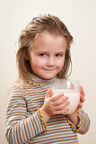Child drinking milk Royalty Free Stock Photography