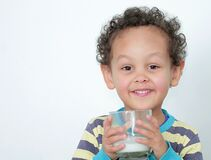 Child Drinking Milk Stock Photo Stock Image