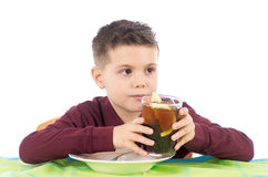 Child drinking Royalty Free Stock Photography