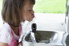 Child Drinking Water Stock Image
