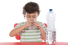 Child drinking water Royalty Free Stock Photo
