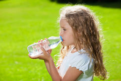 Child drinking water Stock Photography