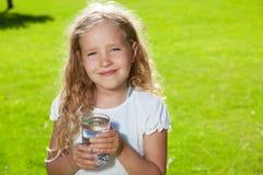 Child drinking water Stock Photo