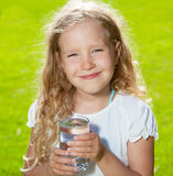Child drinking water Stock Photos