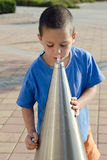 Child drinking water royalty free stock photography