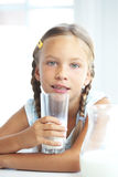 Child drinks milk Royalty Free Stock Photos