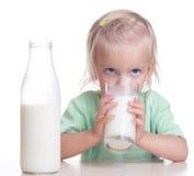 Child drinks milk Stock Photos