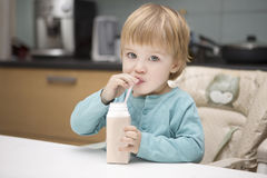 The child drinks Royalty Free Stock Image