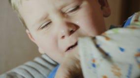 A child dripping Teardrop stock video