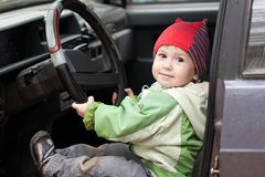 Child driving Stock Images