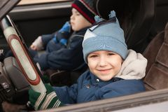 Child driving Royalty Free Stock Photos