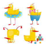 Child Duck Funny Colorful Toy Set Royalty Free Stock Photography
