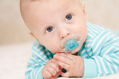 The child with a dummy royalty free stock photography