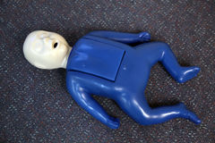Child dummy for cpr stock photo