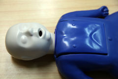 Child dummy for cpr Stock Photos
