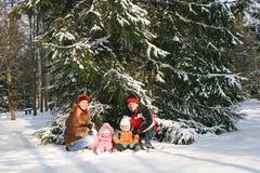 Child earth snow Stock Image