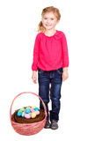 Child with easter basket Stock Photo