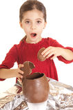 Child with easter egg Stock Photography