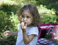 Child eat outdoors Stock Photos