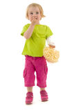 Child eat snack Royalty Free Stock Photography